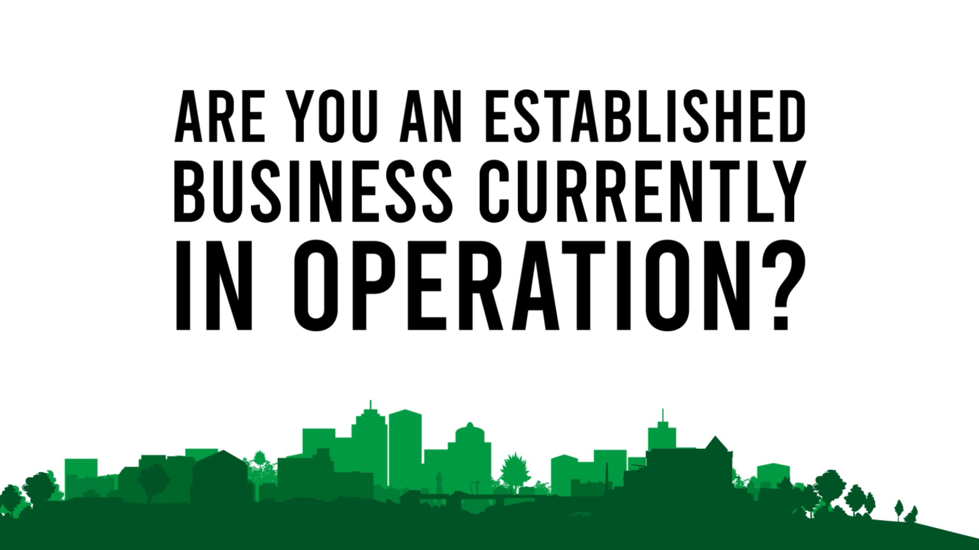 Are you an established business currently in operation?